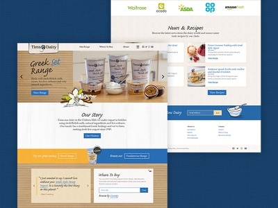 Tims Dairy strategy uxui user experience branding web design