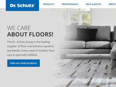 Dr. Schutz user experience uxui strategy digital design shop ecommerce web design