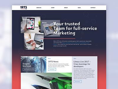 1973 Redesign uxui visual interface photoshop website web design redesign