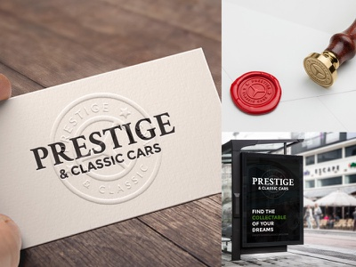 Prestige & Classic Cars mockups cars automotive branding logo brand identity