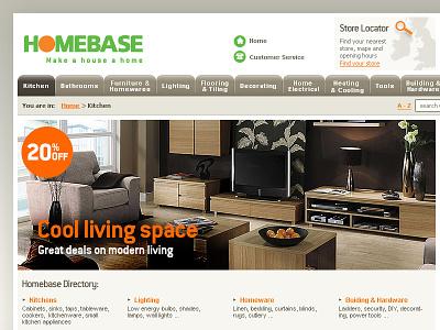 Homebase ecommerce diy interface design web design homebase