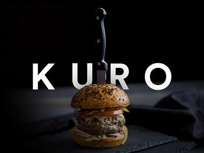KURO uxui web design beverage drink food food and drink kuro kin kuro