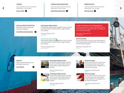GOP Content grid news content bahrain interface layout visual website design gop