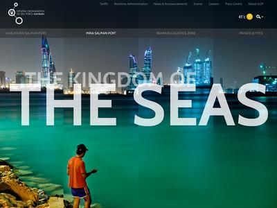GOP Banner website visual layout interface gop design header banner bahrain