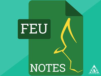 FEU Notes flat vector app icon minimalism flat design illustrator