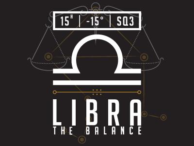 Libra typogaphy minimal minimalism constellation zodiac sign zodiac astrology libra flat flat design typography illustration illustrator vector