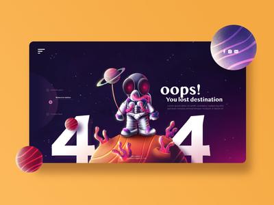 Astronaut in space for 404 website error