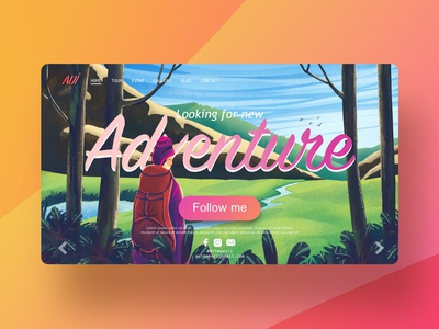 illustration of adventure for landing page