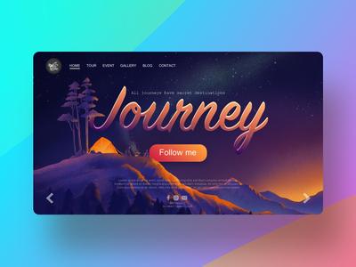 illustration of journey for landing page