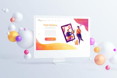 Illustration for online shopping website
