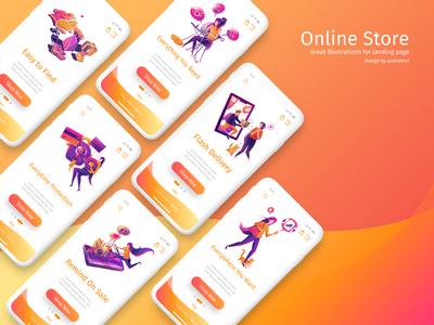 illustration for Online store
