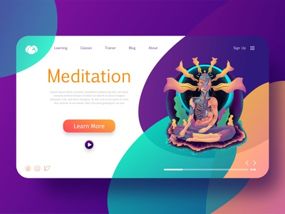 illustration of Yoga and meditation