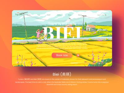 illustration landscape for travel landing page