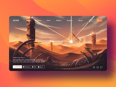 Concept art desert landscape