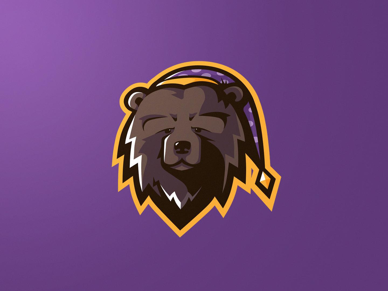 Slumber Mascot Logo email bear mascot logo mascot photoshop illustrator branding twitch.tv twitch logo esports esport