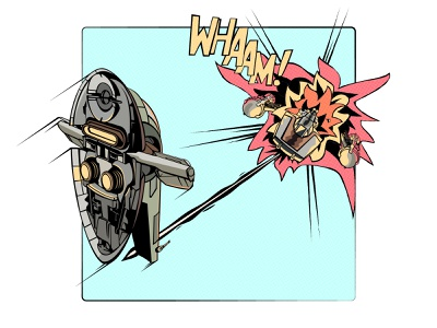 Star Whaam! vector illustration vector art vector illustration illustrator boba fett star wars art star wars