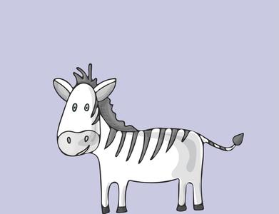 Zebra cute cartoon character abc cute funny cartoon character zebra wild children book illustration character illustration flat design