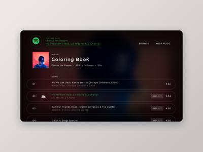 Spotify Concept  //  Album View