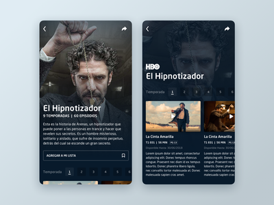 DirecTV Go  //  Show Details app design icon ui web ios guide user interface app design video app design system sketch design visual design handset ux interface ui