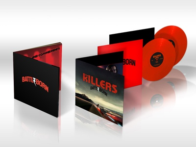 The Killers - Battle Born cd vinyl product mockups mockup the killers band album album artwork battleborn battle born photoshop