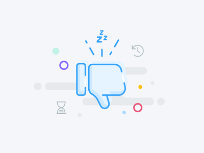 Empty State: Feedback request feedback empty state illustration visual design figma product design interface ui ux ux design zero state thumbs down snooze