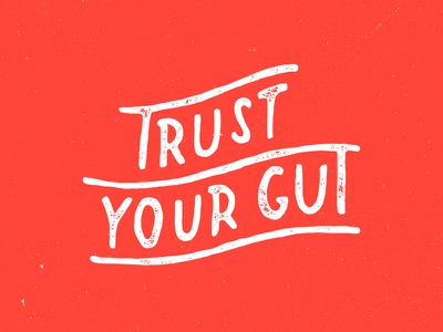 Trust Your Gut texture type lettering illustration branding charlotte coffee co trust your gut coco and the director
