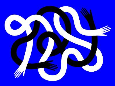 Hands modern illustrator illustration handshake loop twisted tangled arm hands hand