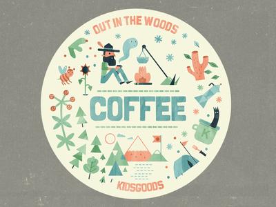 Explore camping illustrations sticker set explore