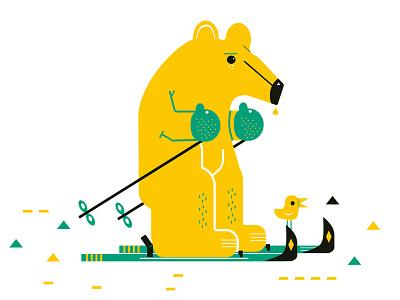 Ski2 4drib jamie illustration wintersport sport winter ski