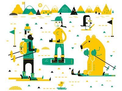 Ski2 3drib jamie snowboard wintersport winter sport ski