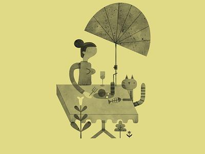 sylvia essen karte illustrations jamie illustration cat girls food