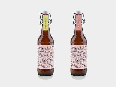 beer THINGS mockup beer mockup beer bottle beer branding beerlabel beer illustrations illustration
