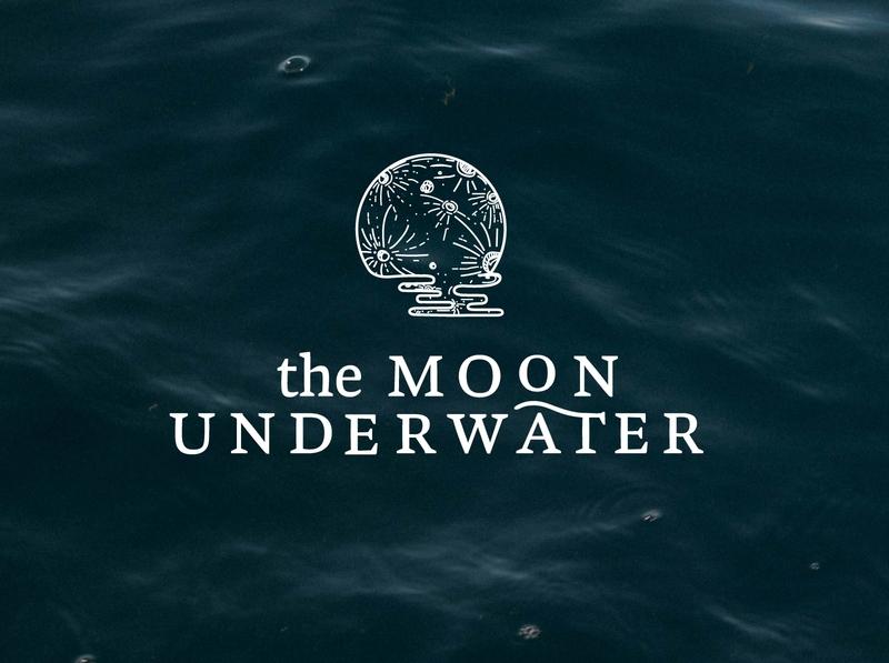 The Moon Underwater branding and identity branding identity logotype branding concept logodesign logo branding