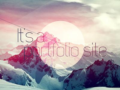 Portfolio Graphic mountains portfolio web circle