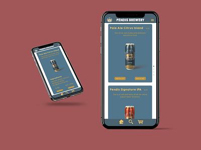 Pendis Brewery App web sketch design graphicdesign branding ui