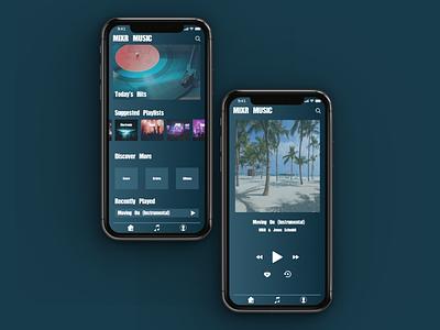 MusicApp Mockup sketch inspiration web design branding ui graphicdesign