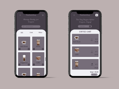 TheCafeStopMockup app graphicdesign branding illustration affinitydesigner ui sketch inspiration web design