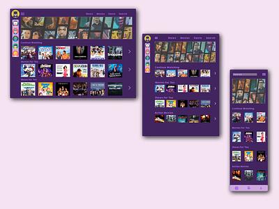 Streaming Service UI Design graphicdesign inspiration typography branding sketch affinitydesigner mobile tablet ui web design