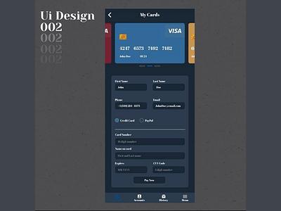 DailyUI_002 Credit Card Form app design web design uius design
