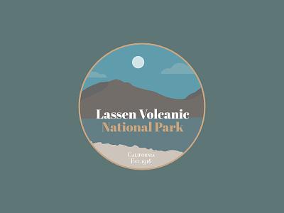 Lassen Volcanic Badge national park badge affinity designer vector logo illustration branding graphicdesign web design