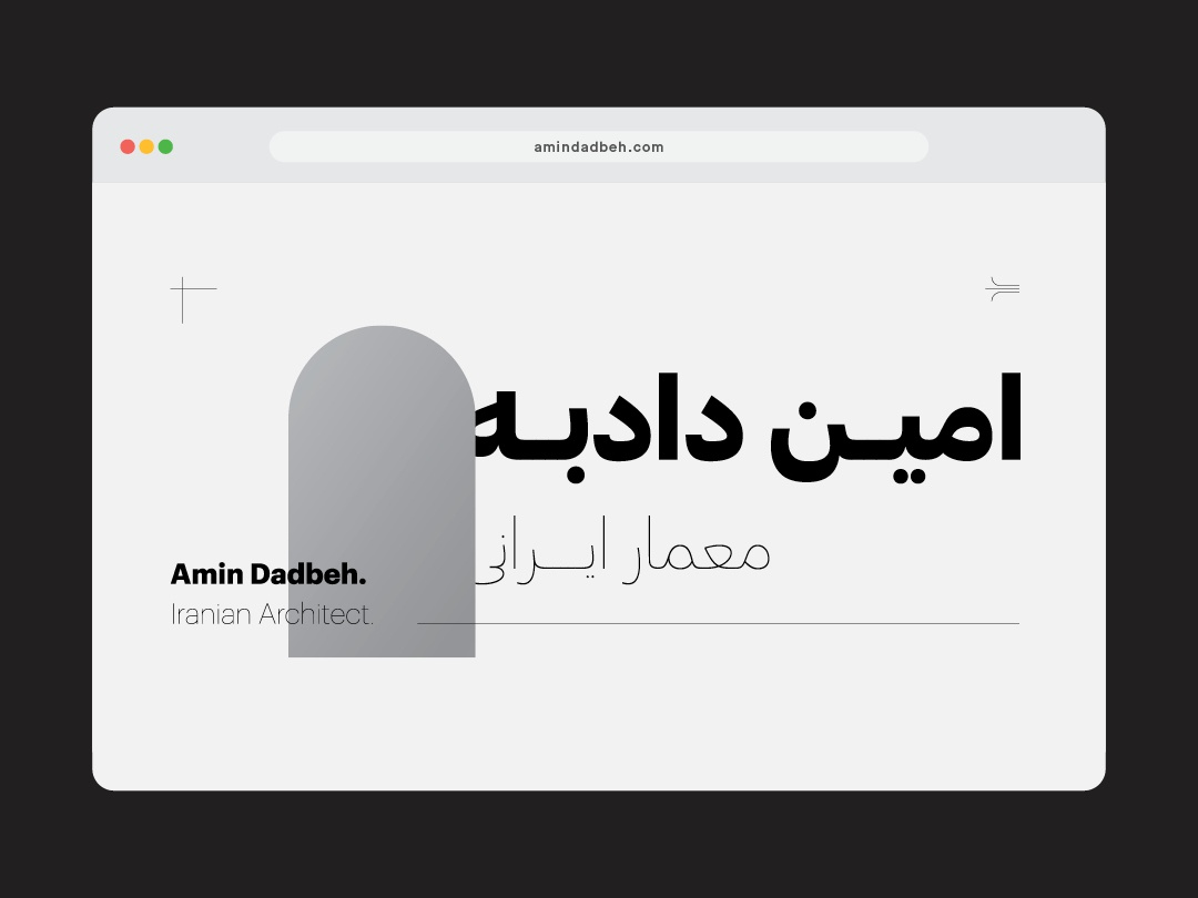 Iranian Architecture's Website Homepage UI Design black and white web design vector gradient minimal web ux typography branding uidesign iranian iran farsi website concept website ui design persian arabic uix ui