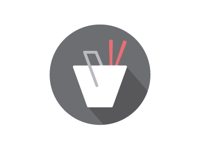 (Almost) Daily Design Challenge #1 icon chinese food takeout flat design
