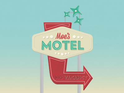 (Almost) Daily Design Challenge #2 motel sign gradient illustration
