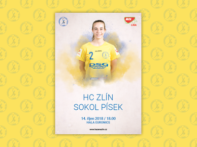 Match poster Handball club Zlín