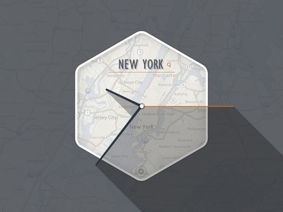 World Clock Widget world clock widget map input field new york flat ui