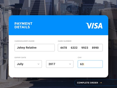 Day 004 - Credit Card Payment sell buy shop order visa payment widget card credit