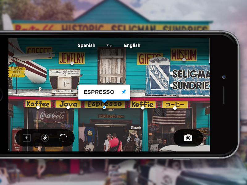 Day 012 - Augmented Translator tourist flash iphone flat ui console app camera reality augmented translator interface