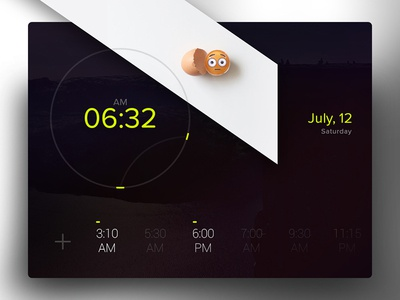 Day 013 - Alarm Clock hands cook days minute time flip ios clock alarm