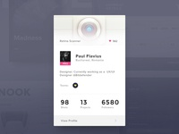 Day019   dribbble profile card