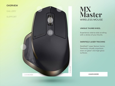 Day 022 - Technical Specifications user logitech master mx mouse specs specifications technical